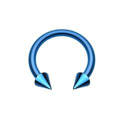 Fer à Cheval Acier bleu foncé spike - 8mm