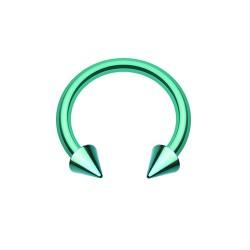 Fer à Cheval Acier vert spike - 8mm