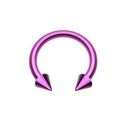 Fer à Cheval Acier violet spike - 8mm