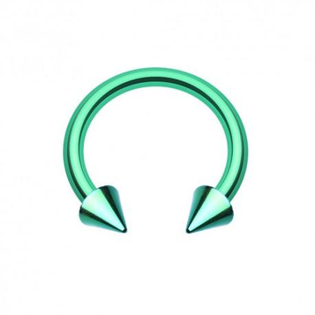 Fer à Cheval Acier vert spike - 10mm