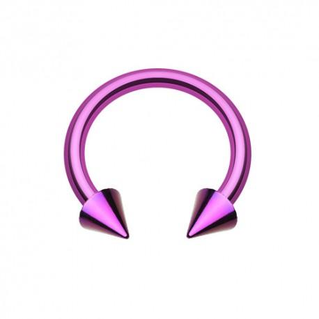 Fer à Cheval Acier violet spike - 10mm