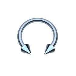 Fer à Cheval Acier bleu spike - 8mm