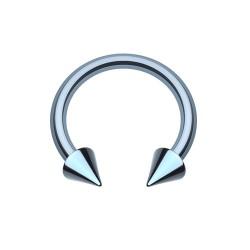 Fer à Cheval Acier bleu spike - 10mm