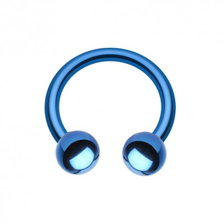 Fer à Cheval Acier bleu foncé bille - 10mm
