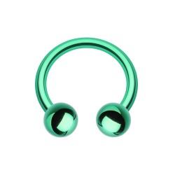 Fer à Cheval Acier vert bille - 10mm