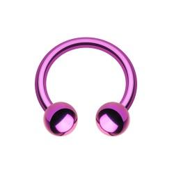 Fer à Cheval Acier violet bille - 10mm