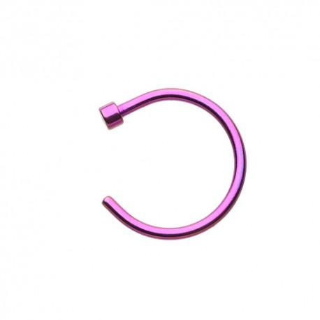 Piercing Nez Anneau violet 7mm