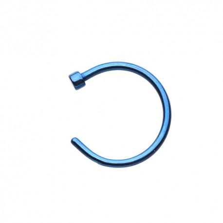 Piercing Nez Anneau bleu 7mm