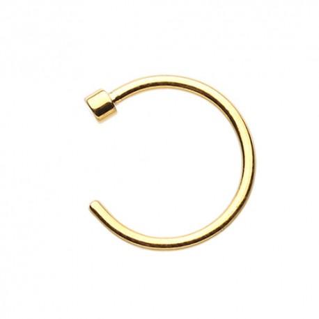Piercing Nez Anneau Plaqué-Or 9mm