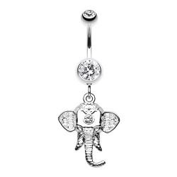 Piercing Nombril Pendant éléphant