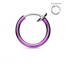 Faux Piercing Anneau violet