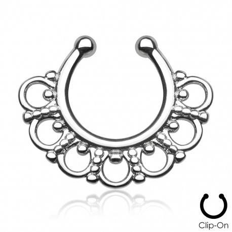 Faux Piercing Septum ethnic