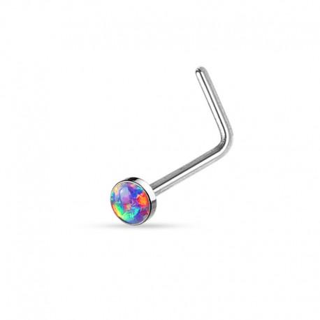 Piercing Nez Opale violette clos