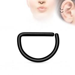Piercing demi-anneau Acier noir