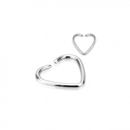Faux Piercing Oreille coeur Acier