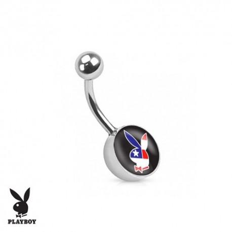 Piercing Nombril logo Playboy® drapeau américain