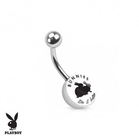 "Piercing Nombril logo Playboy® ""Bunnies do it better"""
