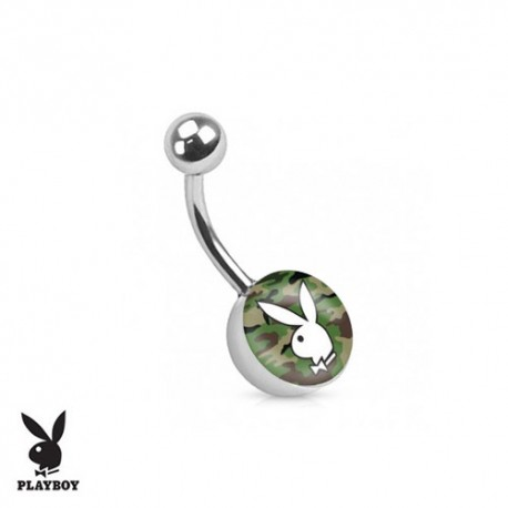Piercing Nombril logo Playboy® lapin camouflage