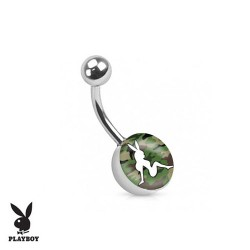 Piercing Nombril logo Playboy® pin-up camouflage