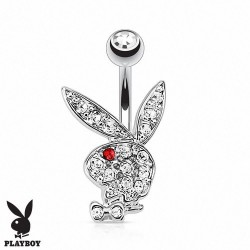 Piercing Nombril Playboy® lapin oeil rouge