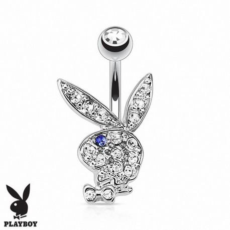 Piercing Nombril Playboy® lapin oeil bleu