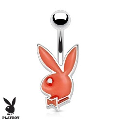 Piercing Nombril Playboy® lapin rouge petite taille
