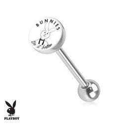 Piercing Langue logo Playboy® lapin smoking