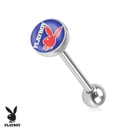 Piercing Langue logo Playboy® lapin rouge