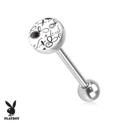 Piercing Langue logo Playboy® dessin