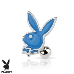 Piercing Cartilage Playboy® lapin bleu