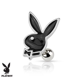 Piercing Cartilage Playboy® lapin noir
