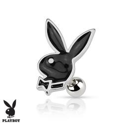 Piercing Cartilage Playboy® lapin noir