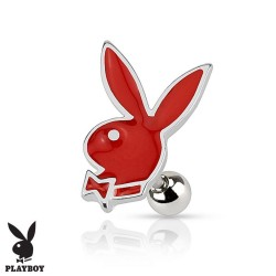 Piercing Cartilage Playboy® lapin rouge