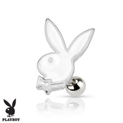 Piercing Cartilage Playboy® lapin blanc