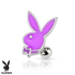 Piercing Cartilage Playboy® lapin violet