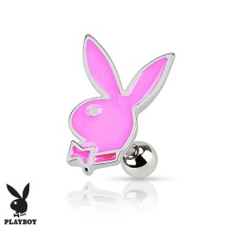 Piercing Cartilage Playboy® lapin rose