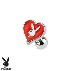 Piercing Cartilage Playboy® coeur rouge