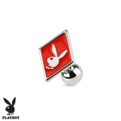 Piercing Cartilage Playboy® carreau rouge