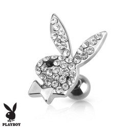 Piercing Cartilage lapin strass Playboy® oeil noir