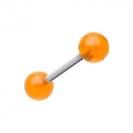 Piercing Langue Acrylique orange