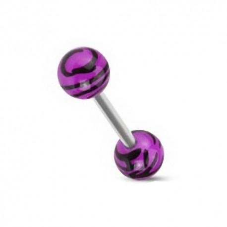 Piercing Langue zèbre violet