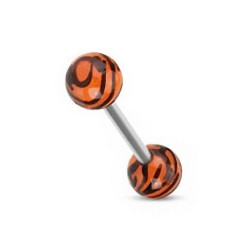 Piercing Langue zèbre orange
