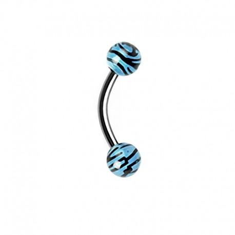 Piercing Arcade zèbre bleu