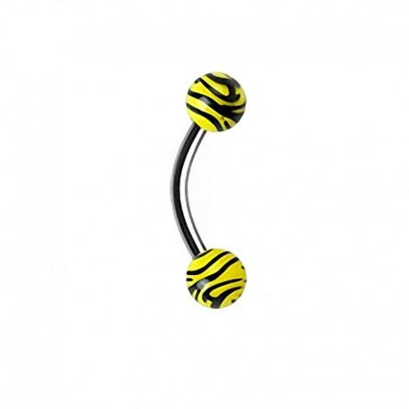 Piercing Arcade zèbre jaune