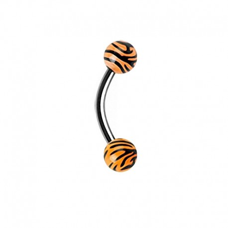 Piercing Arcade zèbre orange