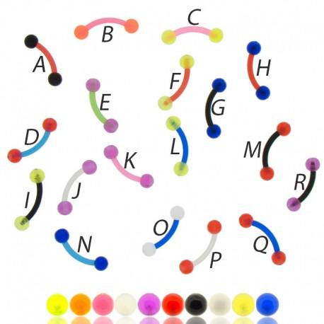 Piercing Arcade Acrylique Bioplastique couleur