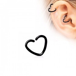 Piercing Oreille coeur noir