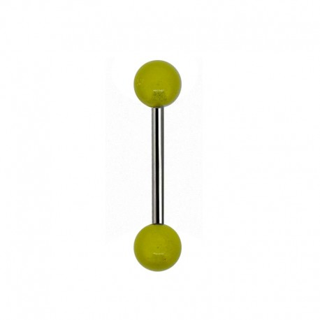 Piercing Langue gloss jaune