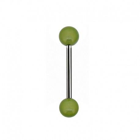 Piercing Langue gloss vert