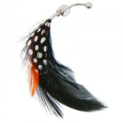Piercing Nombril plume - modèle 1